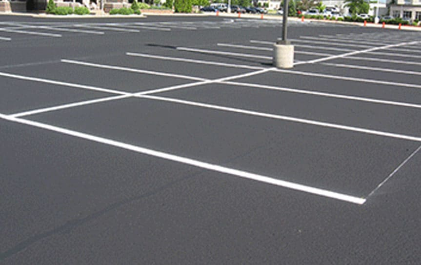 asphalt parking lot
