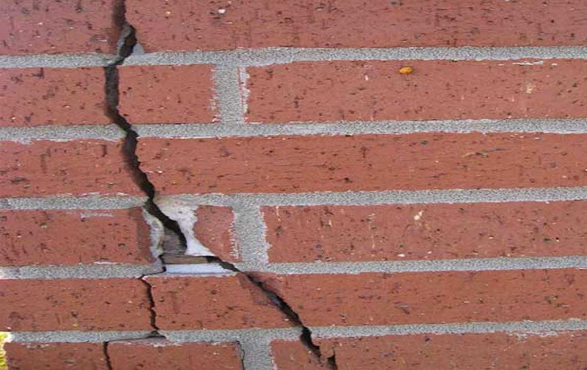 crack brick wall