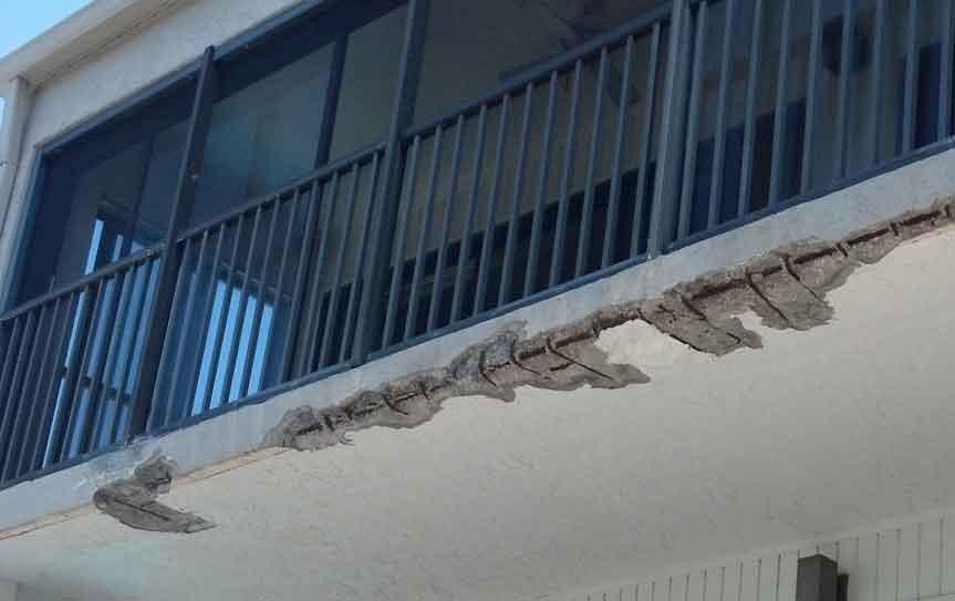 broken balcony