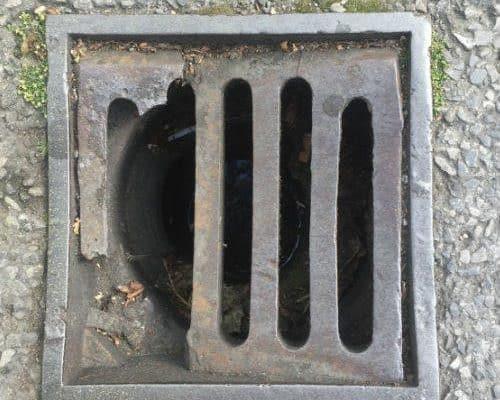 broken drainage