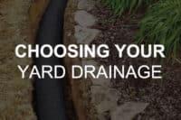 yard drainage solutions