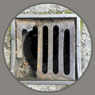 Broken drain grate