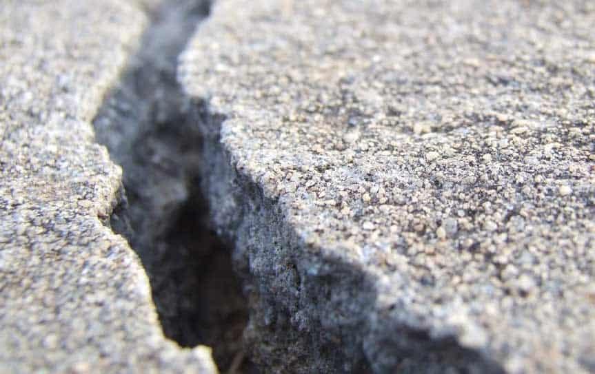 broken concrete