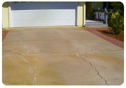 cracked driveway in los angeles