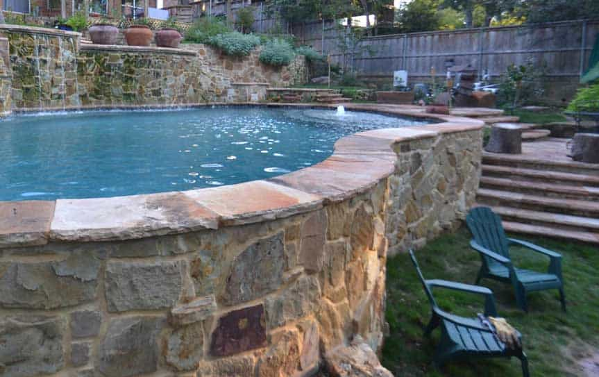 hillside pool