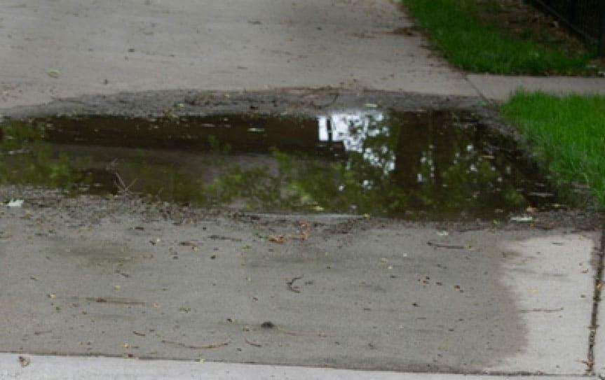 leaking sidewalk repair