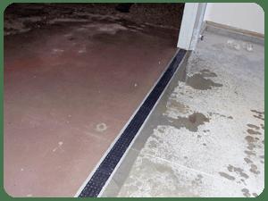 water entering garage